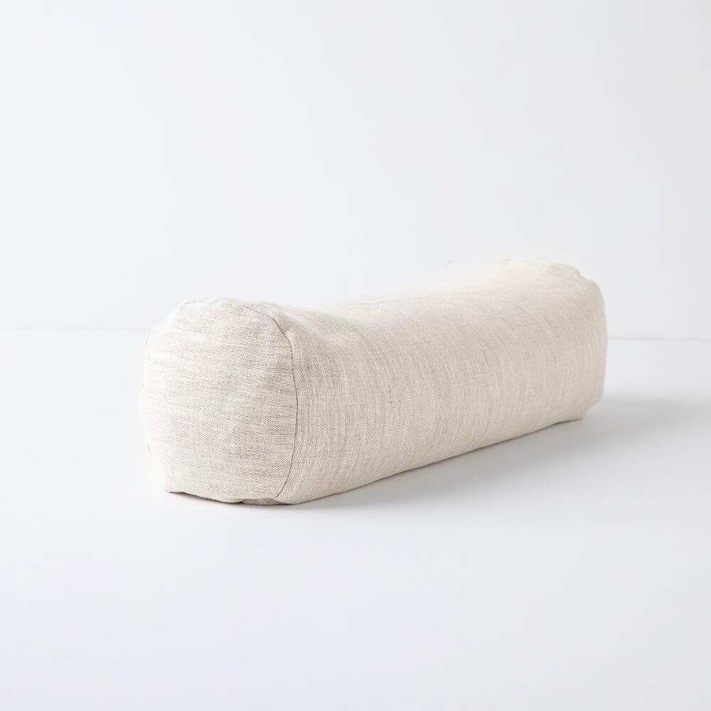 Terra Collective - Linen Mini Cylindrical Bolster - Halfmoon