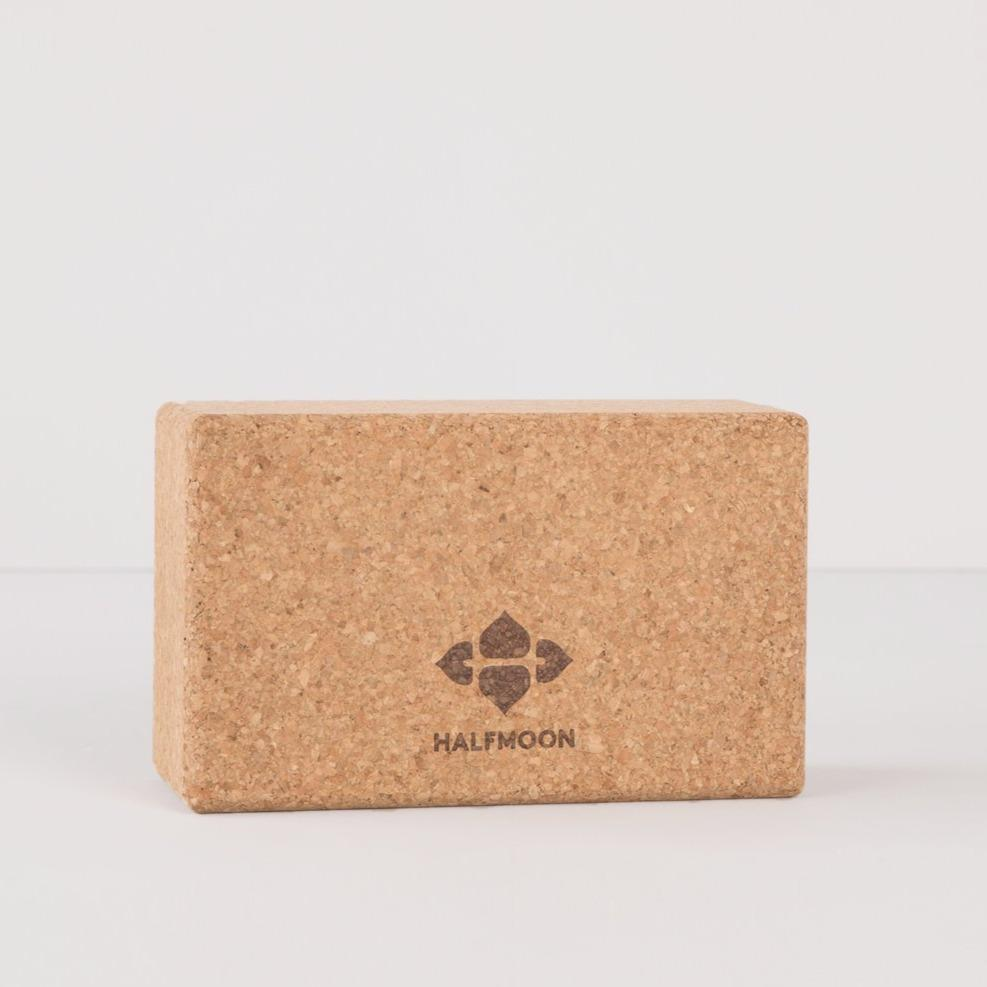 Terra Collective - Natural Cork Yoga Block - Halfmoon