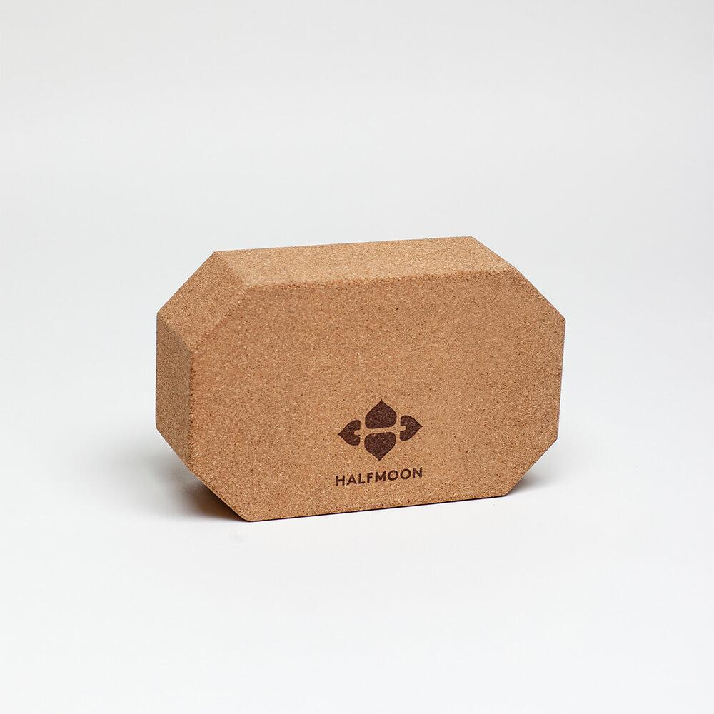 Terra Collective - Octagonal Cork Yoga Block - Halfmoon