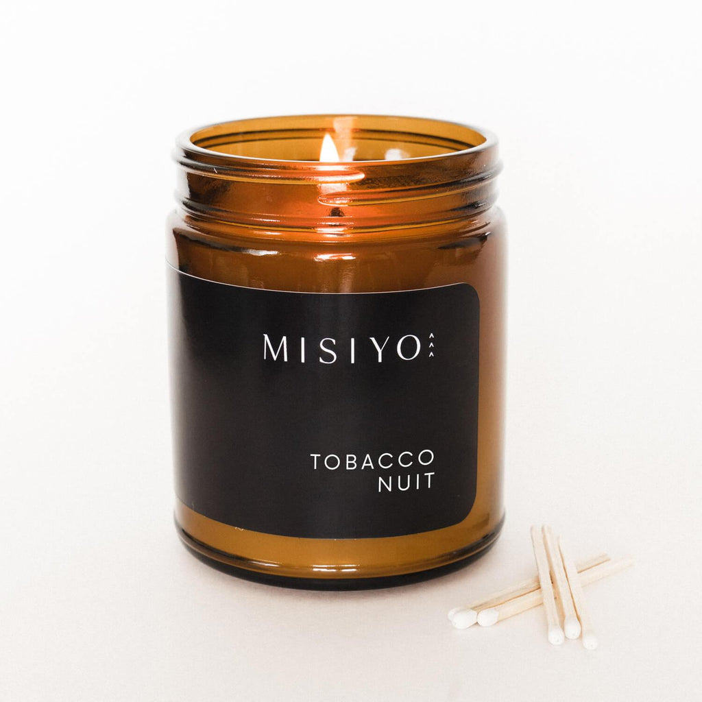 Terra Collective - Tobacco Nuit Fine Fragrance Candle + Matches - MISIYO Candle Co