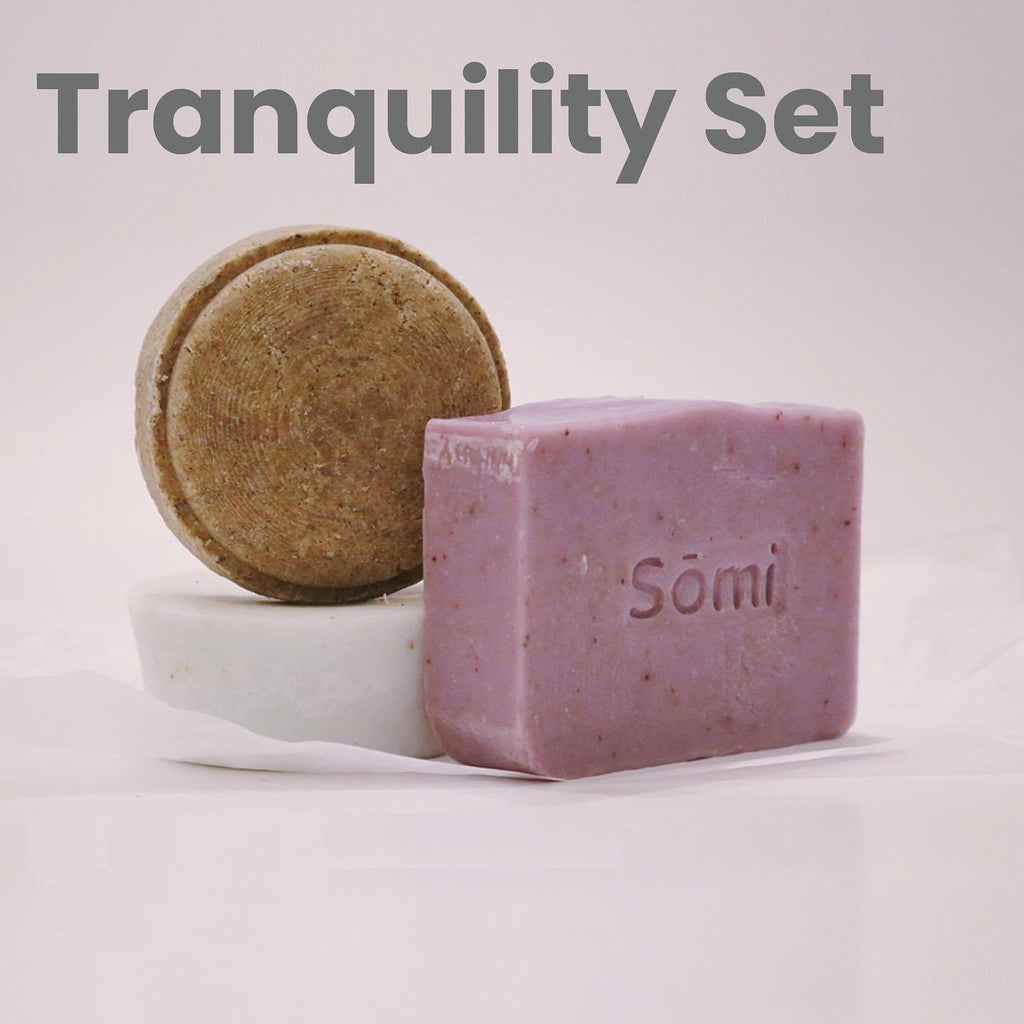Terra Collective - Tranquility Shower Set: Shampoo, Conditioner & Soap Bars - Sōmi