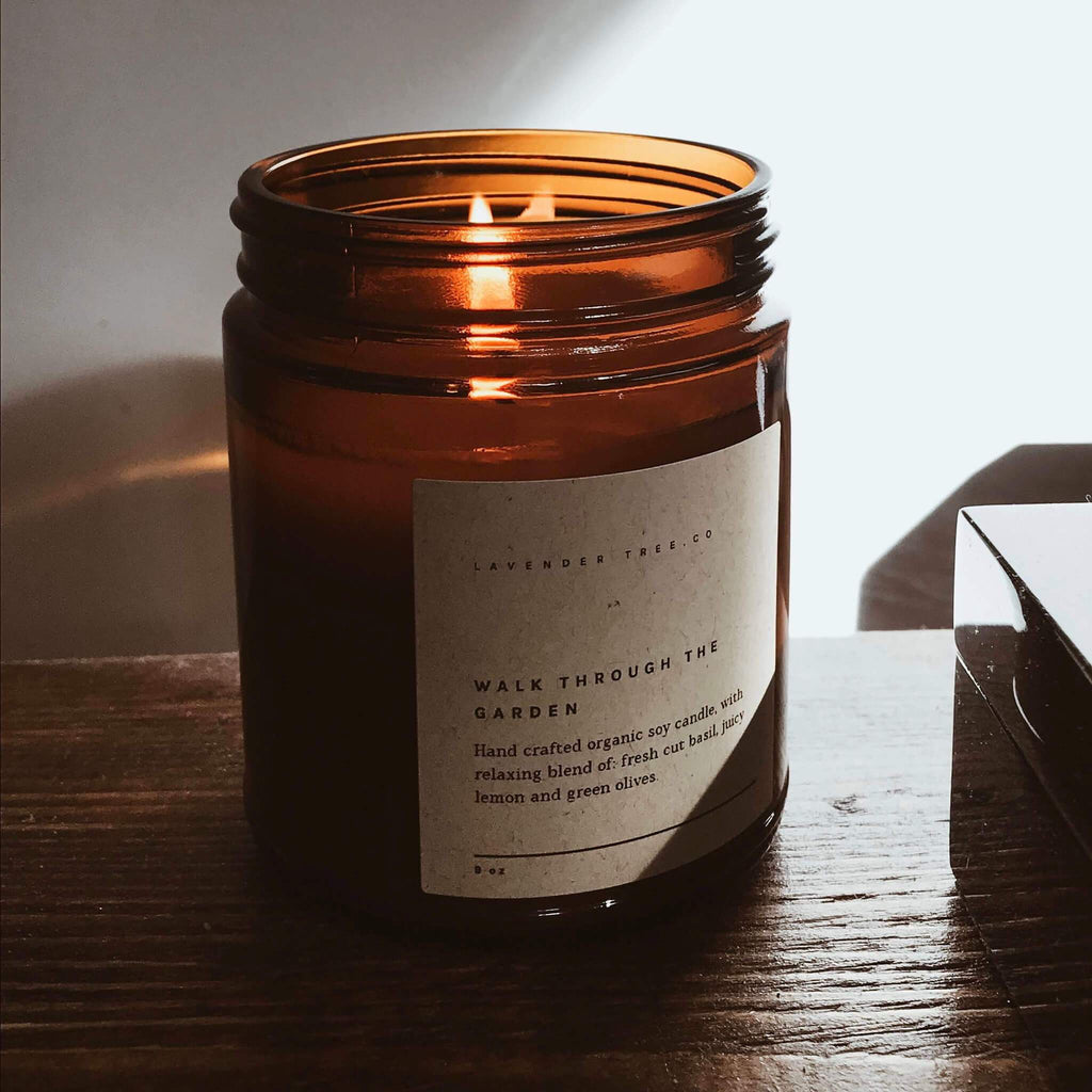 Terra Collective - Walk Through the Garden Soy Wax Candle - Lavender Tree.Co