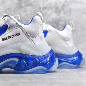 Balenciaga Triple S Light Grey/White-Blue