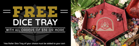 Free Dice Tray on all orders $50 or more