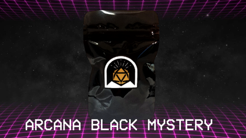 Arcana Black Mystery Dice Pack