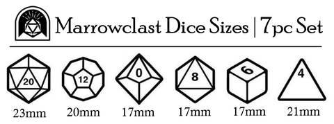 Marrowclast Dice Size Chart