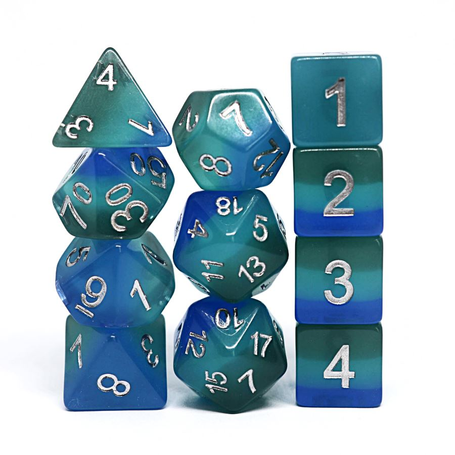 Harrowdeep 11pc Polyhedral Dice Set - Arcana Vault