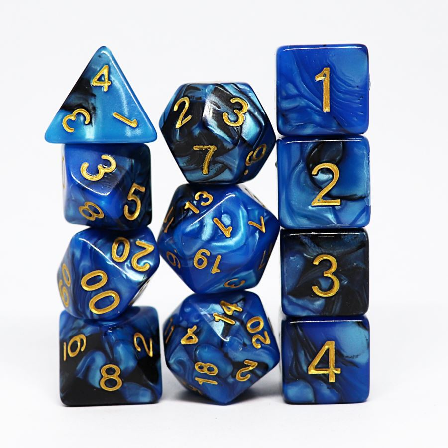 Outerlands 11pc Polyhedral Dice Set - Arcana Vault
