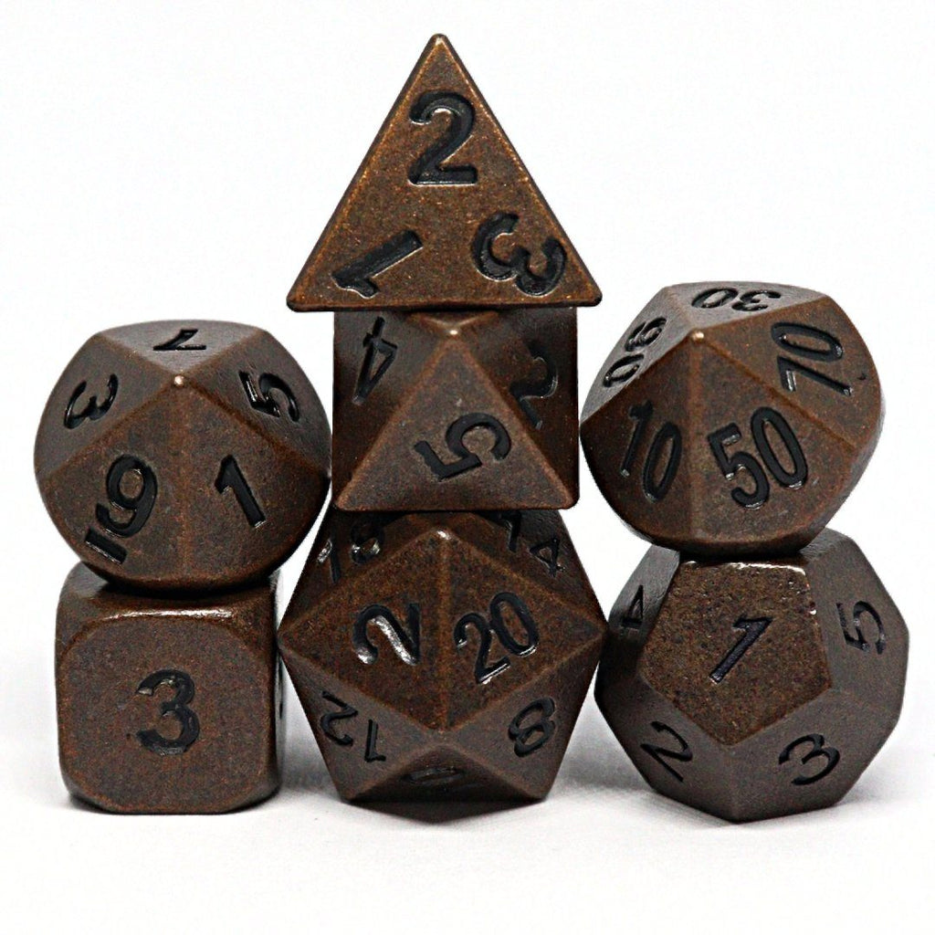 Ancient Bronze Polyhedral Dice Set - Arcana Vault