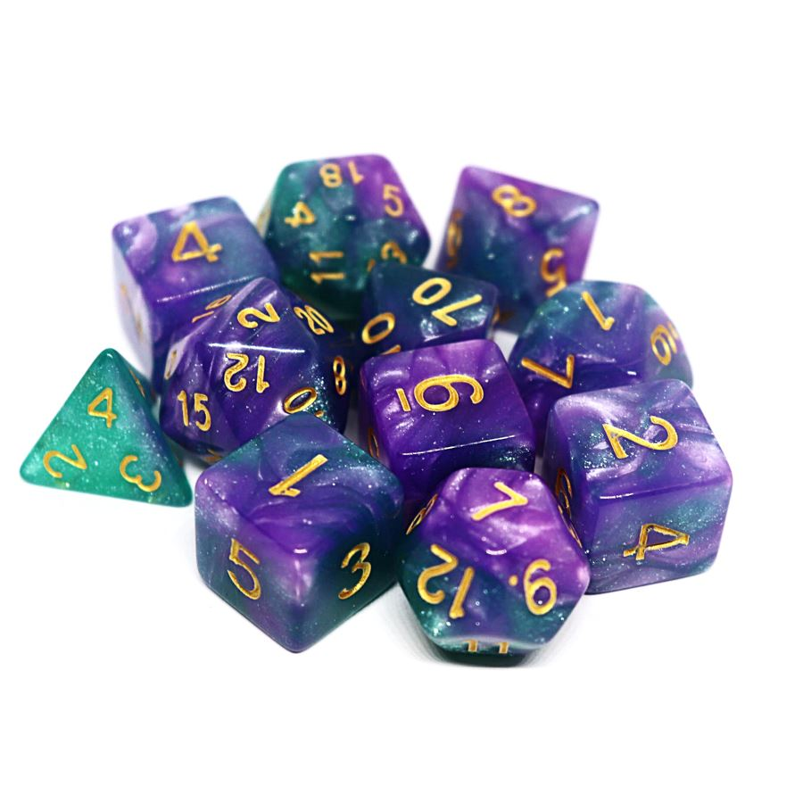 Astral Gaze 11pc Polyhedral Dice Set - Arcana Vault