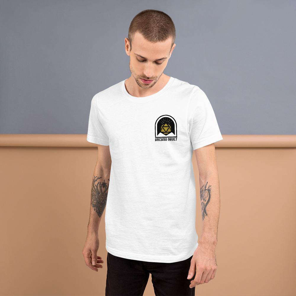 AV Diceology Badge Unisex T-Shirt - Arcana Vault