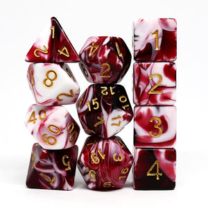 Bloodpact 11pc Polyhedral Dice Set - Arcana Vault