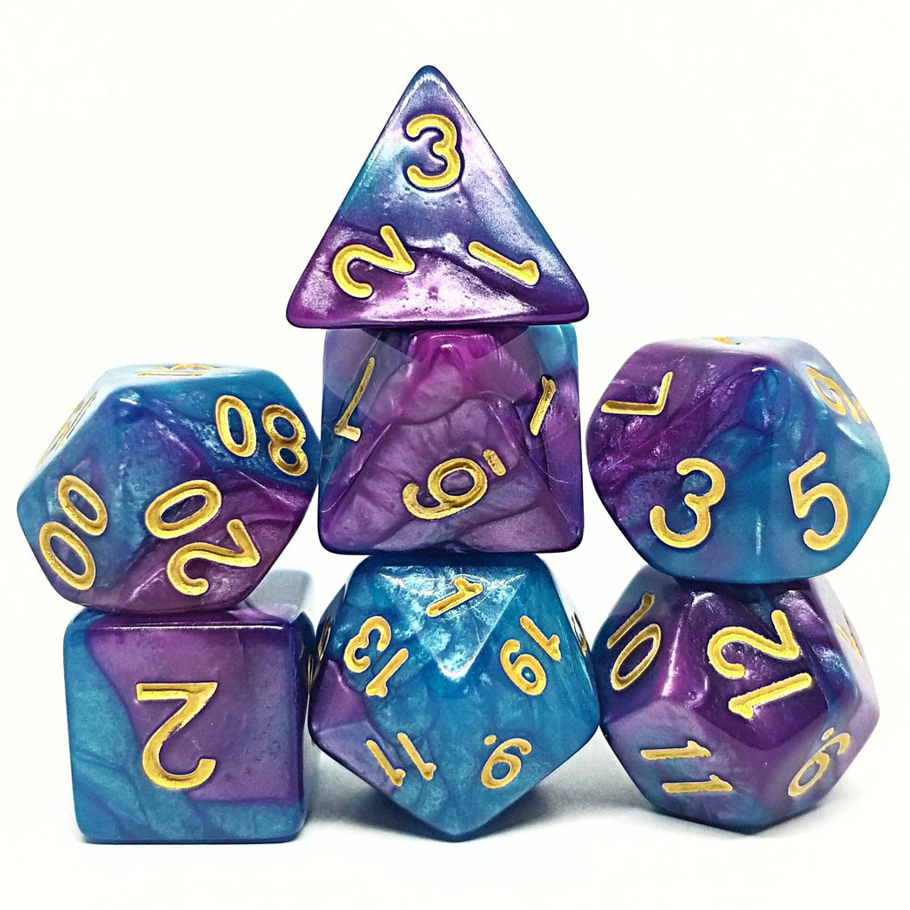 Dawn's Edge Polyhedral Dice Set - Arcana Vault