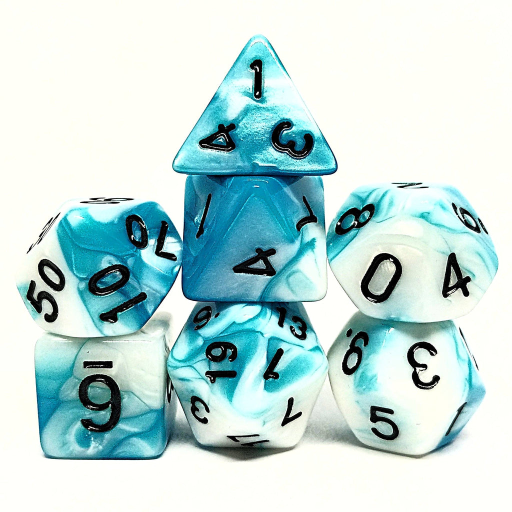 Frost Stone Polyhedral Dice Set - Arcana Vault
