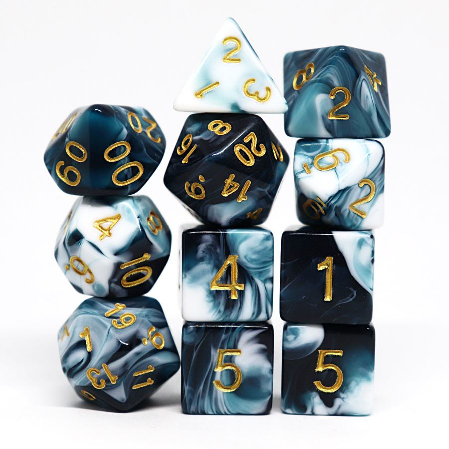 Gallandale 11pc Polyhedral Dice Set - Arcana Vault