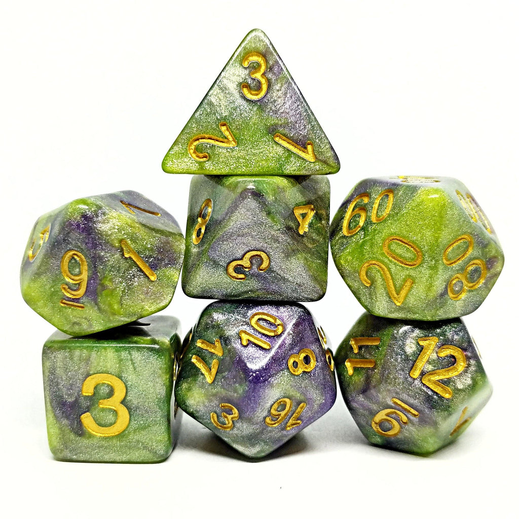 Goblin Shards Polyhedral Dice Set - Arcana Vault