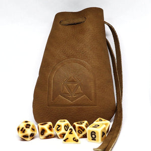 Natural Leather Dice Pouch - Arcana Vault