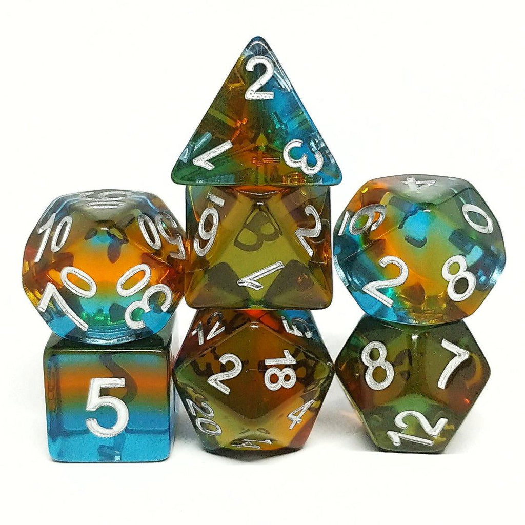 Prismatic Illusion Polyhedral Dice Set - Arcana Vault