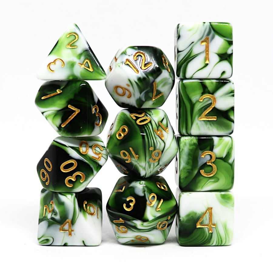 Wildgrove 11pc Polyhedral Dice Set - Arcana Vault