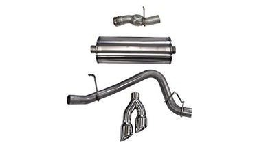 Corsa 14826 Cat Back Exhaust (Dual Rear Exit with Polished Twin Pro Series Tips)