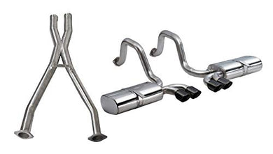Corsa Performance 14111CBBLK Sport Cat-Back Exhaust System Dual Rear Exit 2.5 in. Dia. Incl. Muffler/Pipes/Clamps/Twin 3.5 in. Black Pro-Series Tips Sport Cat-Back Exhaust System