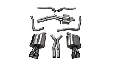 Corsa 14544BLK Cat Back Exhaust (Audi S5 B8 4.2L V8)