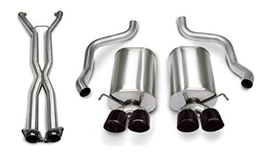 Corsa Performance 14169CB6BLK Sport Cat-Back Exhaust System Dual Rear Exit 2.5 in. Dia. Incl. RH-LH Mufflers/LF-RH Over Axle Pipes/Hardware/Twin 3.5 in. Black Pro-Series Tips Sport Cat-Back Exhaust System