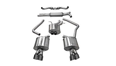 Corsa 14543BLK Cat Back Exhaust (Audi S4 B8 3.0L Turbo)