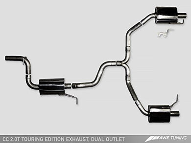 AWE Tuning 3010-32018 VW CC Touring Edition Exhaust (, Dual Outlet - with Chrome Silver Tips)