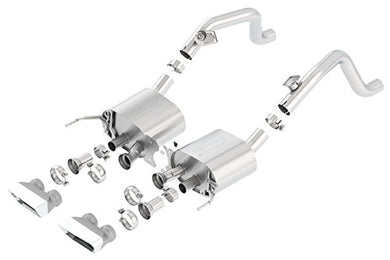 BORLA 11871 S-Type Rear Section Exhaust System (Rectangular Tips)