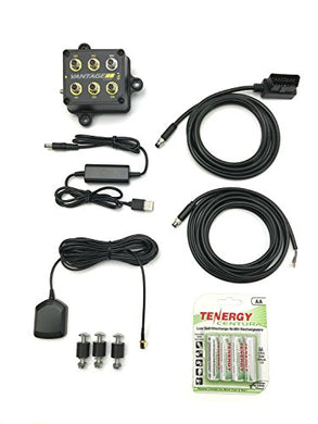 Racepak 20100-2002 Vantage CL1 Track Day/AutoCross Kit; Incl. Racepack CL1 Data Box/RPM Harness/USB Charging Cable/Adapter Cable/GPS Antenna/Rubber Mount Pads/Batteries;