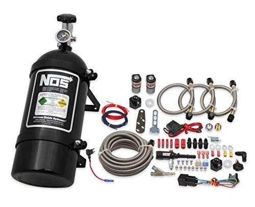 NOS 06017BNOS NOS Single Fogger Wet Nitrous System for 2011-2017 Mustang V6 and V8 - Black