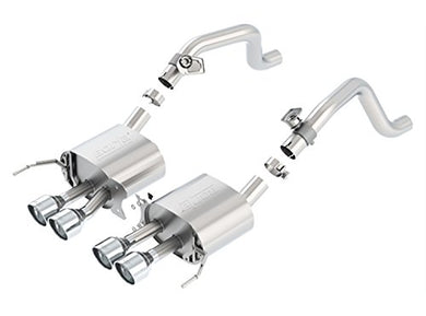 BORLA 11877 S-Type Rear Section Exhaust System (with AFM Valves, Round Tips)