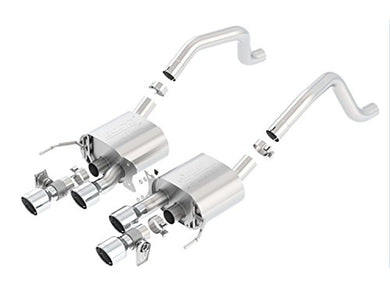 BORLA 11903 ATAK Rear Section Exhaust System (round intercooled tips, with NPP)