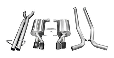 Corsa 14540BLK Cat Back Exhaust (Audi S4 B7 4.2L V8)