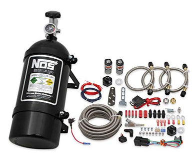 NOS 06019BNOS NOS Single Fogger Wet Nitrous System for 1986-1998 Mustang V8 - Black