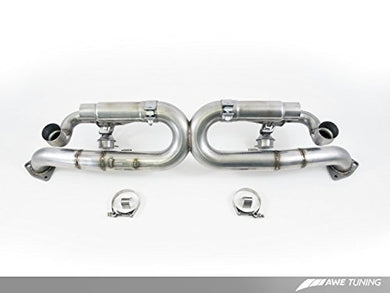 AWE Tuning 3025-43014 Porsche 991 SwitchPath Exhaust (for Non-PSE cars Diamond Black Tips)