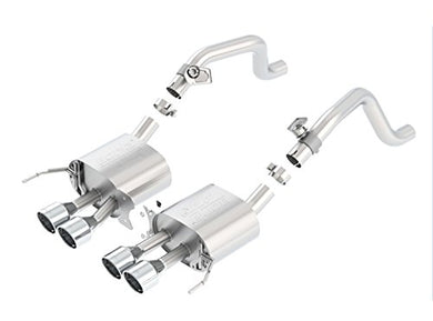 BORLA 11863 ATAK Rear Section Exhaust System (with AFM Valves, Round Intercooled Tips)