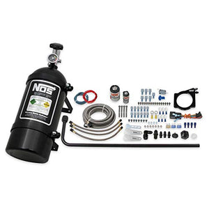 NOS 05163BNOS NOS 90mm GM LS Wet Nitrous System with 4-Bolt Cable Throttle Body - Black