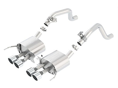BORLA 11862 S-Type Rear Section Exhaust System (with AFM Valves, Round Intercooled Tips)