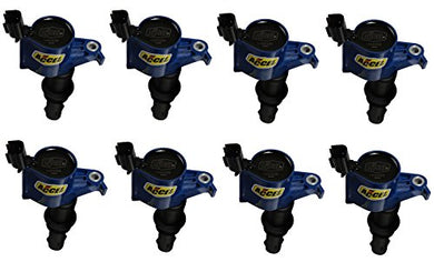 ACCEL 140033B-8 Ignition Coil (Coil 8Pk,Ford Mod Eng 3-Valve, Blue)