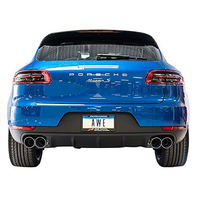 AWE Tuning 3020-43040 Porsche Macan Track Edition Exhaust System (Diamond Black 102mm Tips)