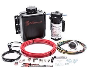 Stage 2.5 Boost Cooler Forced Induction Progressive Water-Methanol Injection Kit (Red High Temp Nylon Tubing, Quick-Connect Fittings)