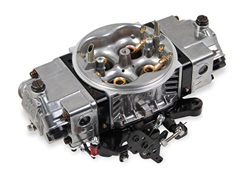 Holley 0-80812BKX Ultra XP Carburetor 4bbl 650 cfm 2 Circuit Metering Model 4150UXP Mech. Secondary Gas Dual Fuel Inlet Circle Track Double Accelerator Pump Shiny Aluminum w/Black Billet Ultra XP Carburetor