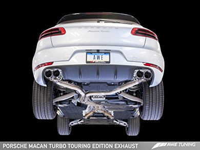 AWE Tuning 3015-42068 Porsche Macan Touring Edition Exhaust System (Chrome Silver 102mm Tips)