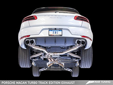 AWE Tuning 3020-42040 Porsche Macan Track Edition Exhaust System (Chrome Silver 102mm Tips)
