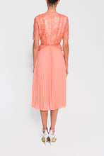 Load image into Gallery viewer, Peach Lace Midi Dress