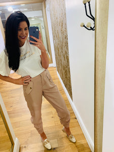 Blush Cuffed Trouser