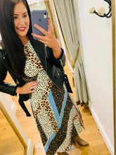 Load image into Gallery viewer, Zoe Blue Leopard Dress