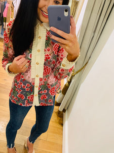 Formal Embroidered Blouse